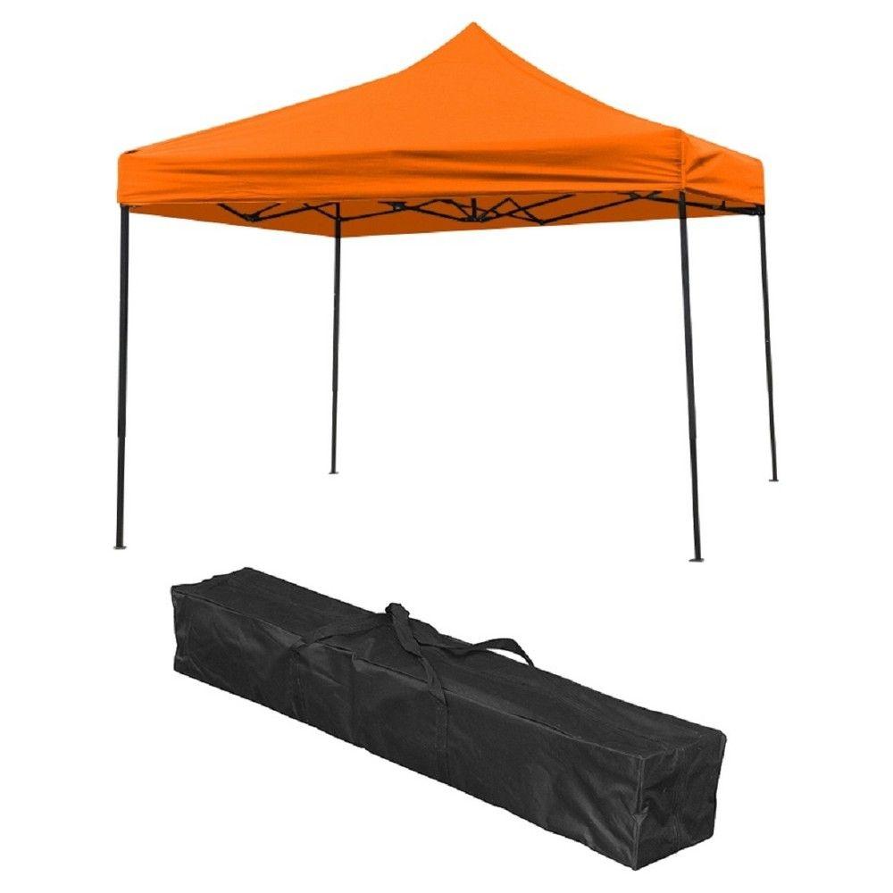 Trademark Innovation Lightweight and Portable Canopy Tent Set 10u0027 X 10u0027 - Orange Sun  sc 1 st  Pinterest & Trademark Innovation Lightweight and Portable Canopy Tent Set 10 ...