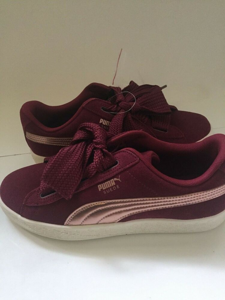 lowest price a47ef 222b1 PUMA shoes Big Kid's Suede Heart Copper Shoes Tibetan Red ...