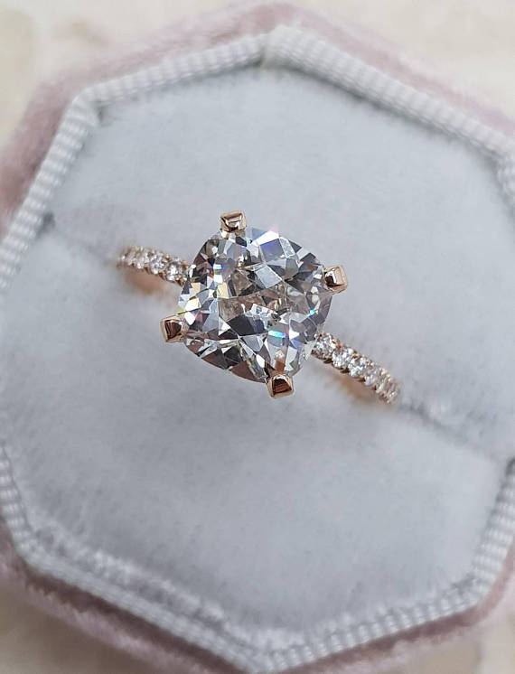 förlovningsring 1 carat