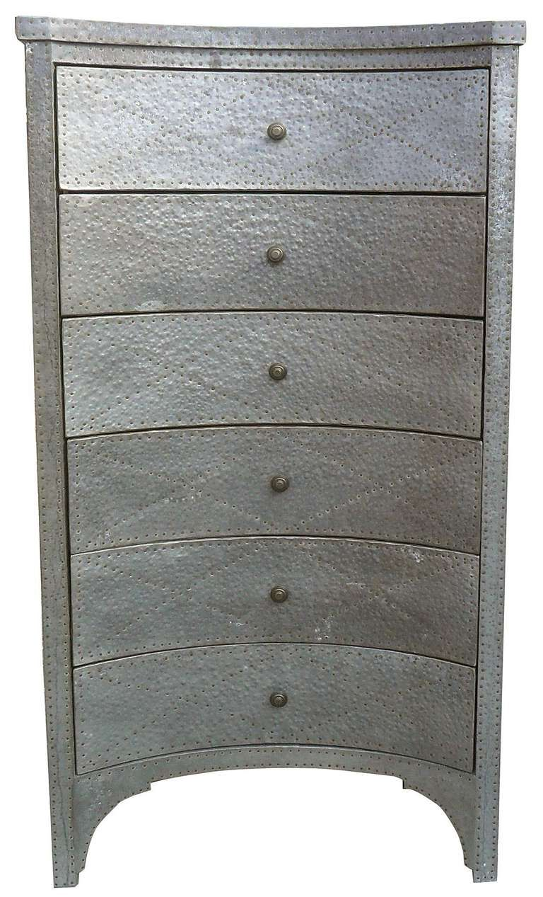 Hammered Metal Tall Chest Of Drawers 1stdibs Com Tall Chest Furniture Tall Chest Of Drawers [ 1267 x 768 Pixel ]