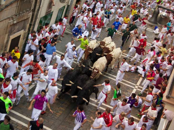 Would you dare to do the Bull Run in Pamplona, Spain?