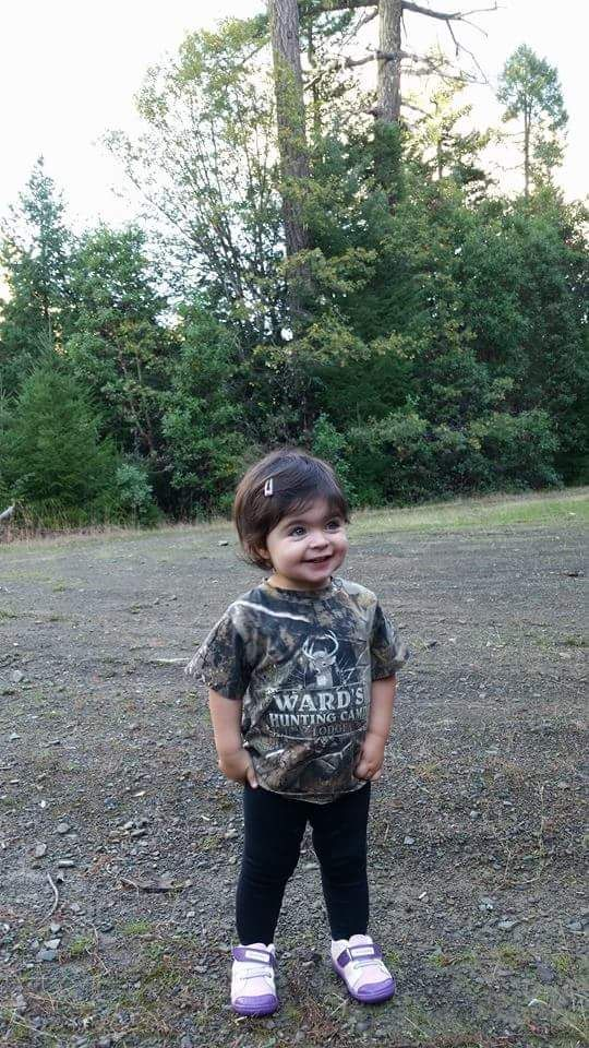 Aspiring hunter in a personalized Hunting Camp tee. Did we mention A-D-O-R-A-B-L-E? http://www.inkpixi.com/items/hunting-camp/realtree-ap-camo/design