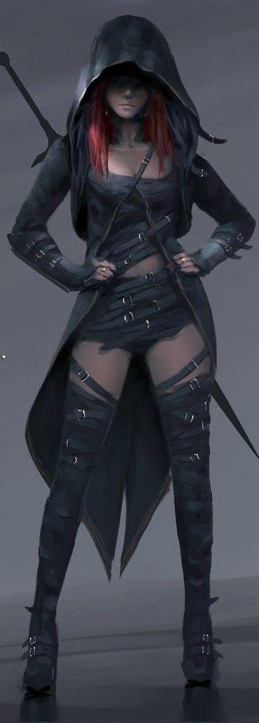 By Wlop Female Fantasy Character Illustration Comic Art Digital Art Fantasy Fantasy Art Women Warrior Outfit