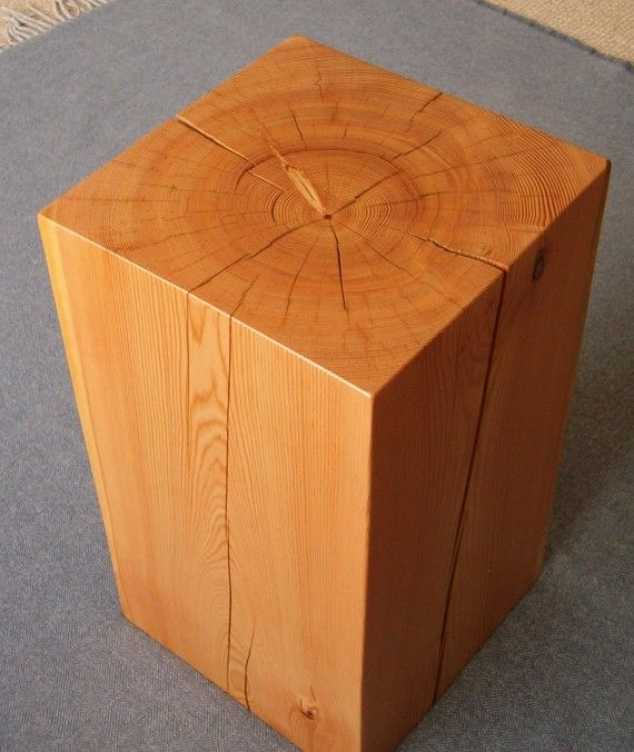 Block Wood Side Table ~ Wood block side table my homey pinterest of woods