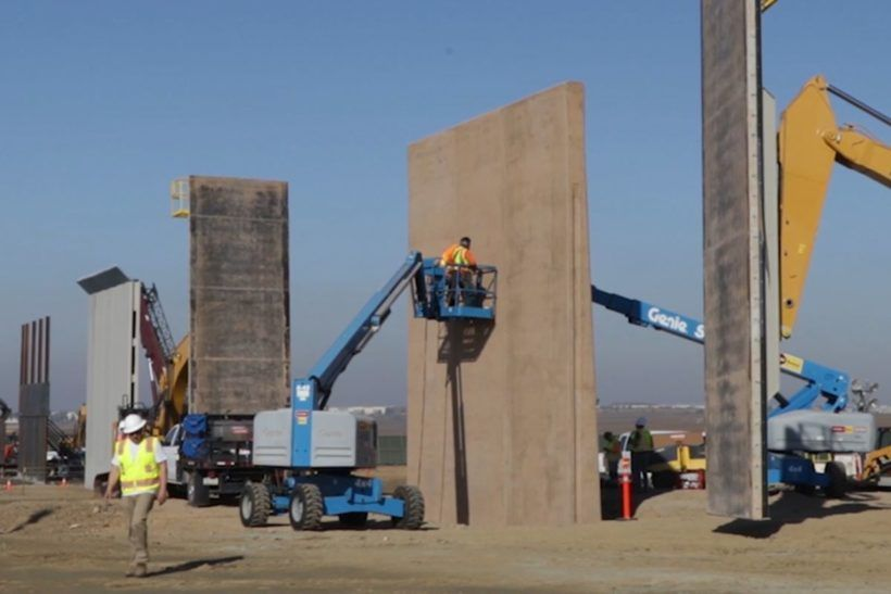 Prototypes For New Border Wall Almost Finished Military Special Forces Border Big Government