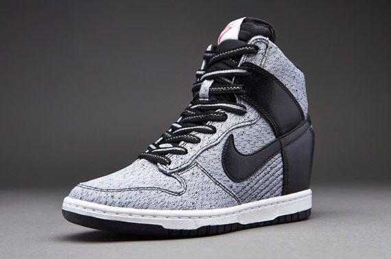 hot sale online 57508 d5601 Nike Sportswear Womens Dunk Sky Hi TXT - Womens Select Footwear - Black- Black-Wolf Grey-Legion Red