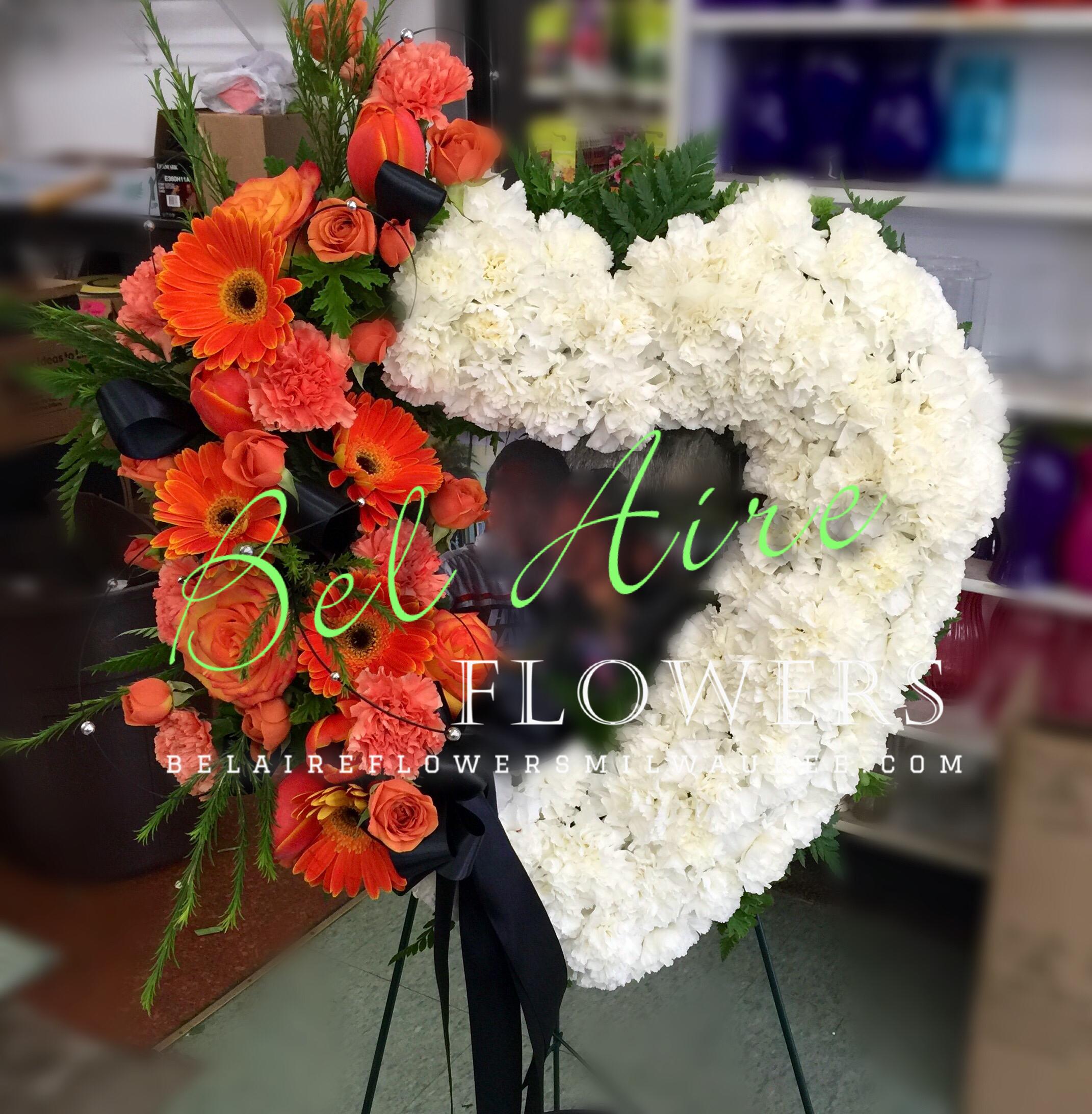 Harley davidson themed heart shaped funeral wreath pinterest harley davidson themed heart shaped funeral wreath izmirmasajfo