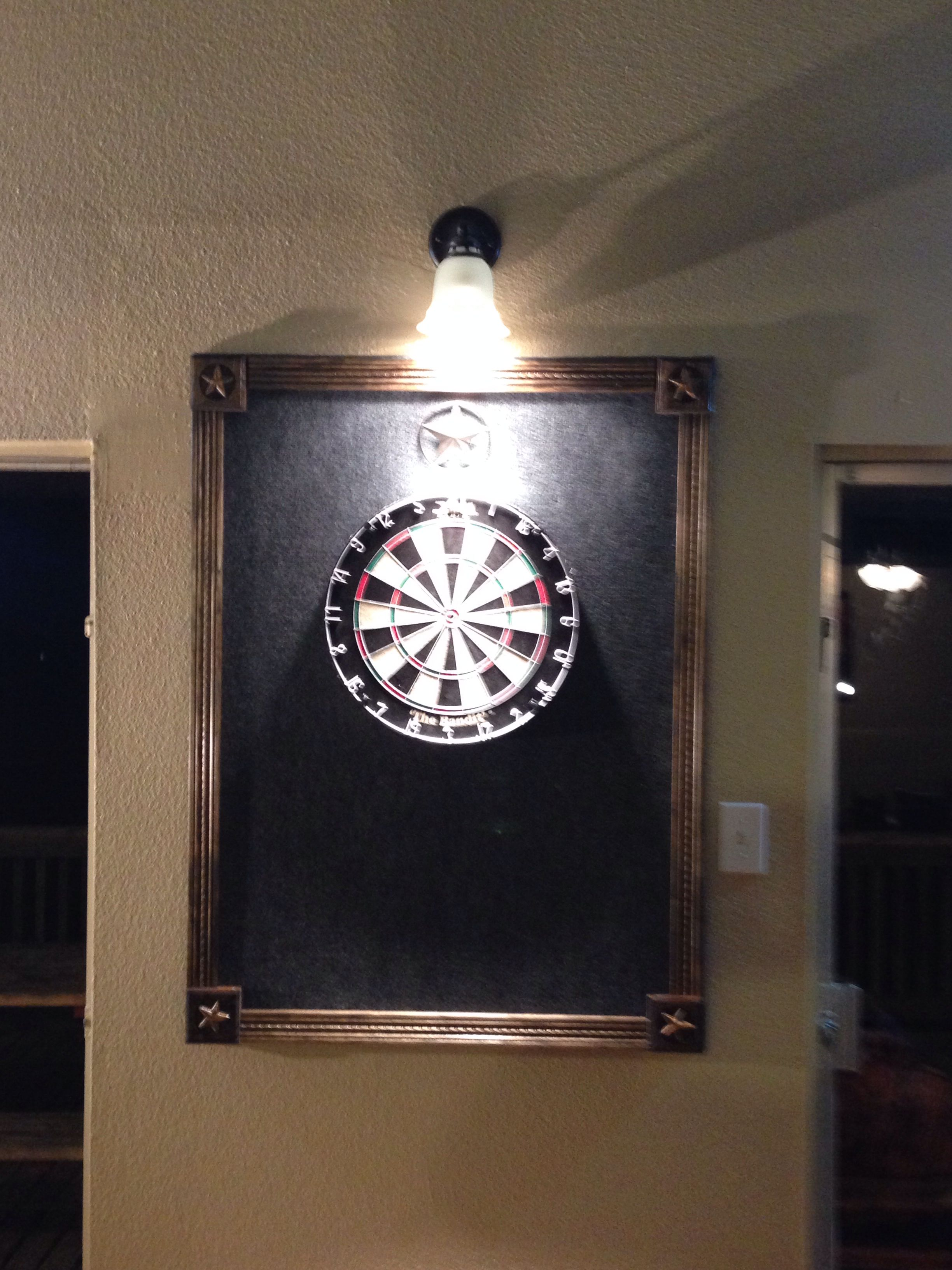 Backboard Ideas Dart backboard. Easy to make