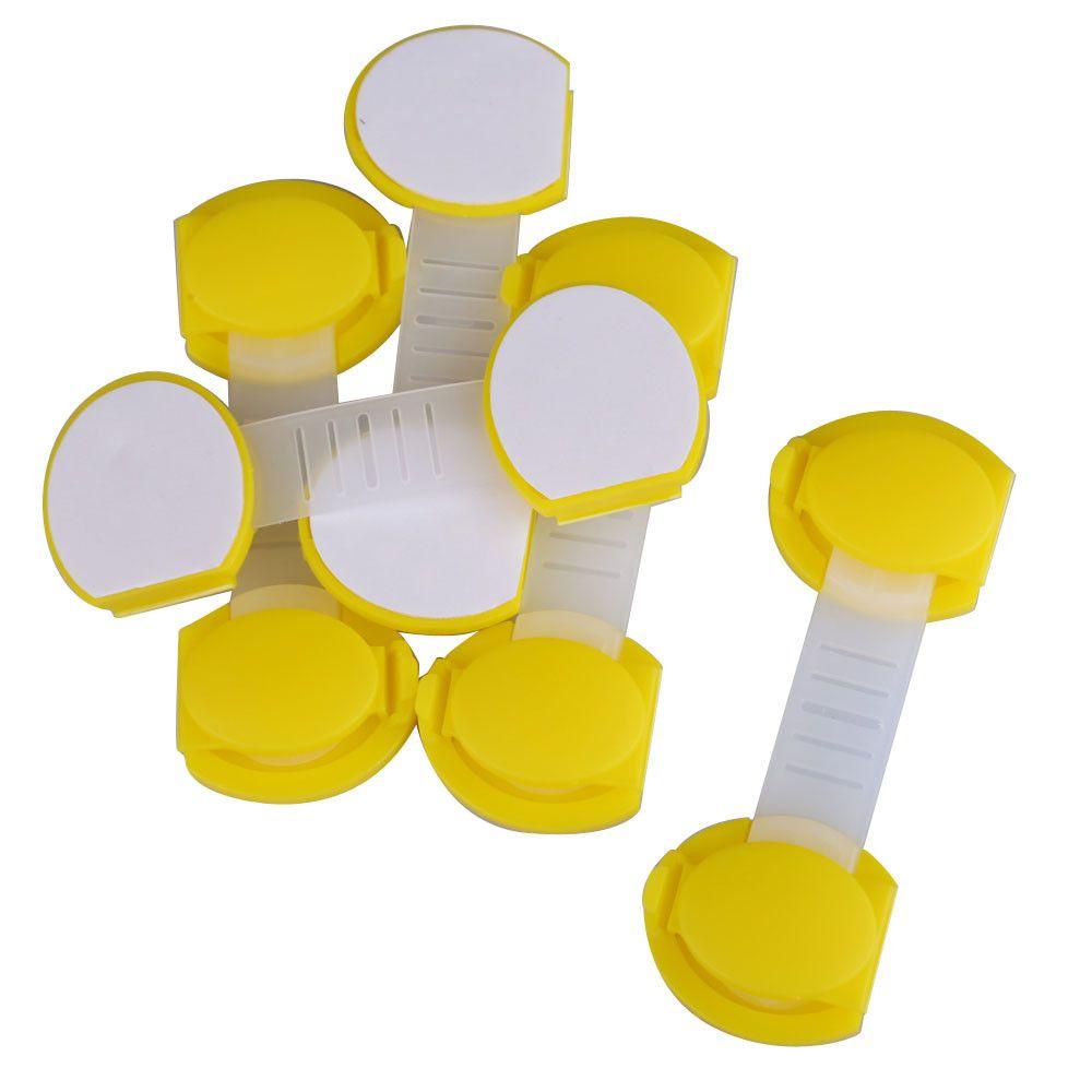 5 pz/set di Plastica Regolabile Bambini Cassetto Serratura di Sicurezza Serratura di Sicurezza del Governo Breve Stile Allungato Bendy Sicurezza Serrature di Plastica