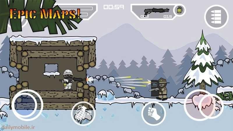 دانلود نسخه مود شده بازی Doodle Army 2 Mini Militia اندروید Download Games Game Download Free Download Hacks