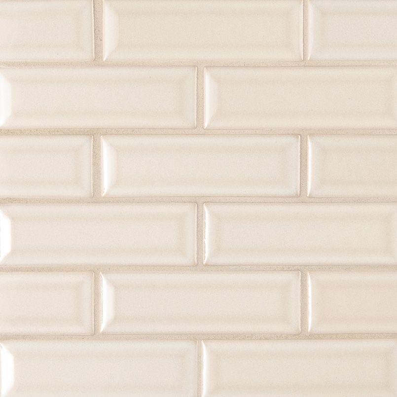Smot Pt Aw 2x6b Antique White 2x6 Beveled Subway Mosaic Beige Ceramic Budget Ceramic Tile Backsplash Tiles Beige Ceramic
