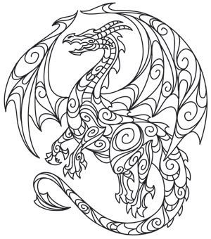 Dragon Free Printable Coloring Pages | Adult Coloring Book - Animals ...