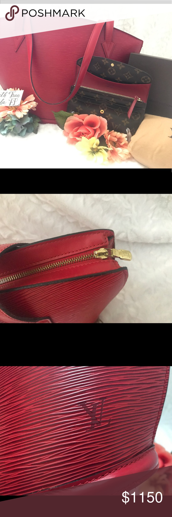 a49aac23ef83 Messenger Bags. Louis Vuitton Monogram. BUNDLE SALE❣️St. Jacques GM and  Emilie Red wallet 💖LV St. Jacques