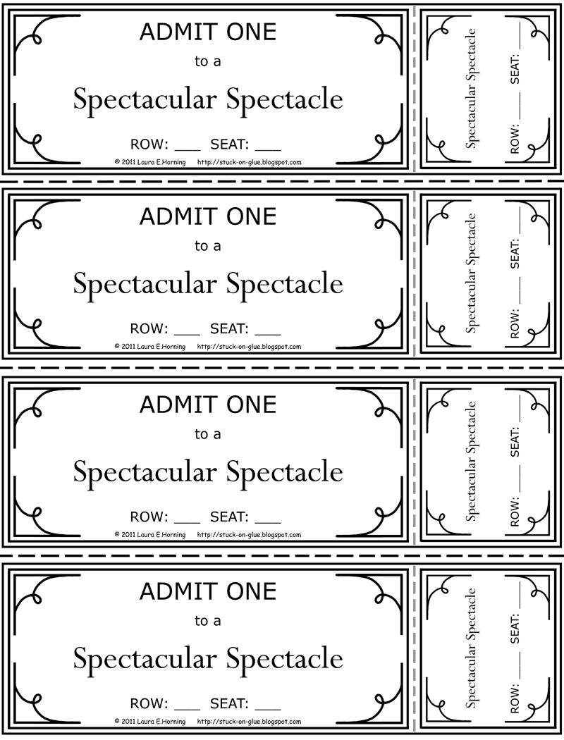 Image Result For Printable Theatre Ticket Ticket Template Free Templates Printable Free Movie Ticket Template