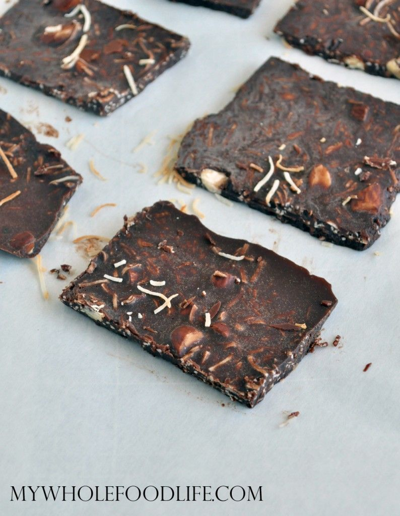 Homemade Bark Thins--make with sunflower instead of almonds