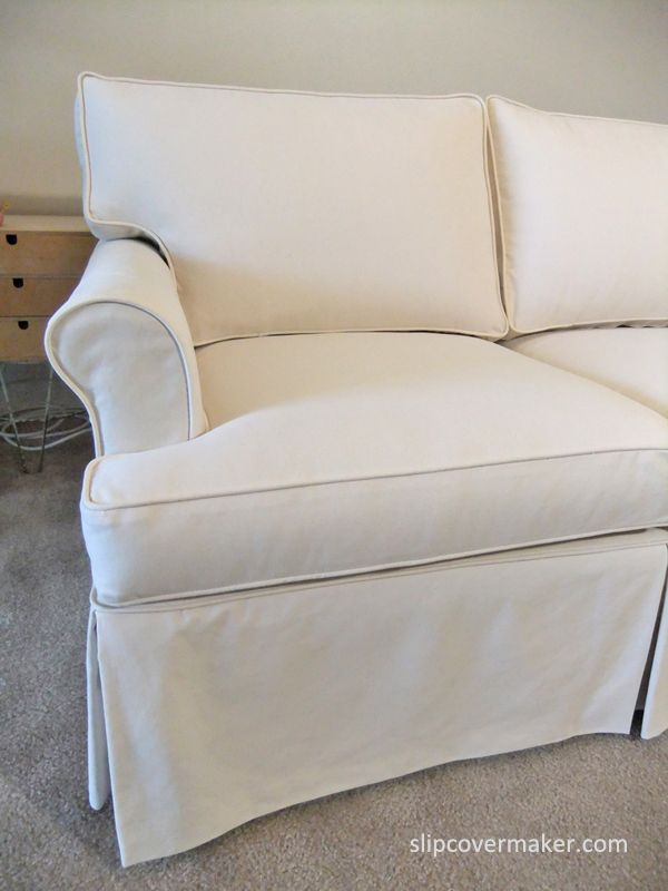 Custom Slipcover With A Tailored Fit For 15 Year Old Ethan Allen Sofa