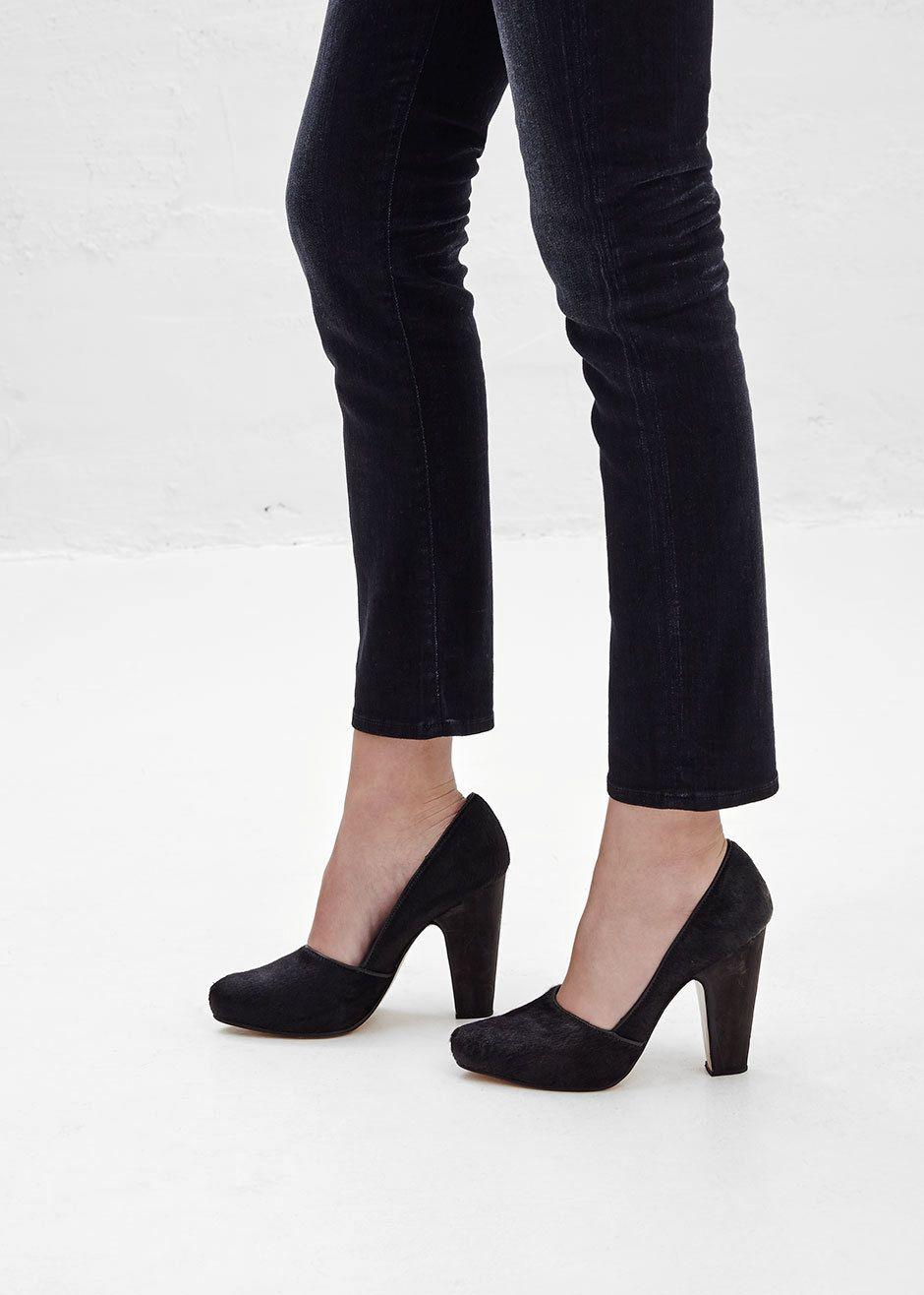 Rachel Comey Exclusive Solitaire Heel (Solid Black Haircalf)
