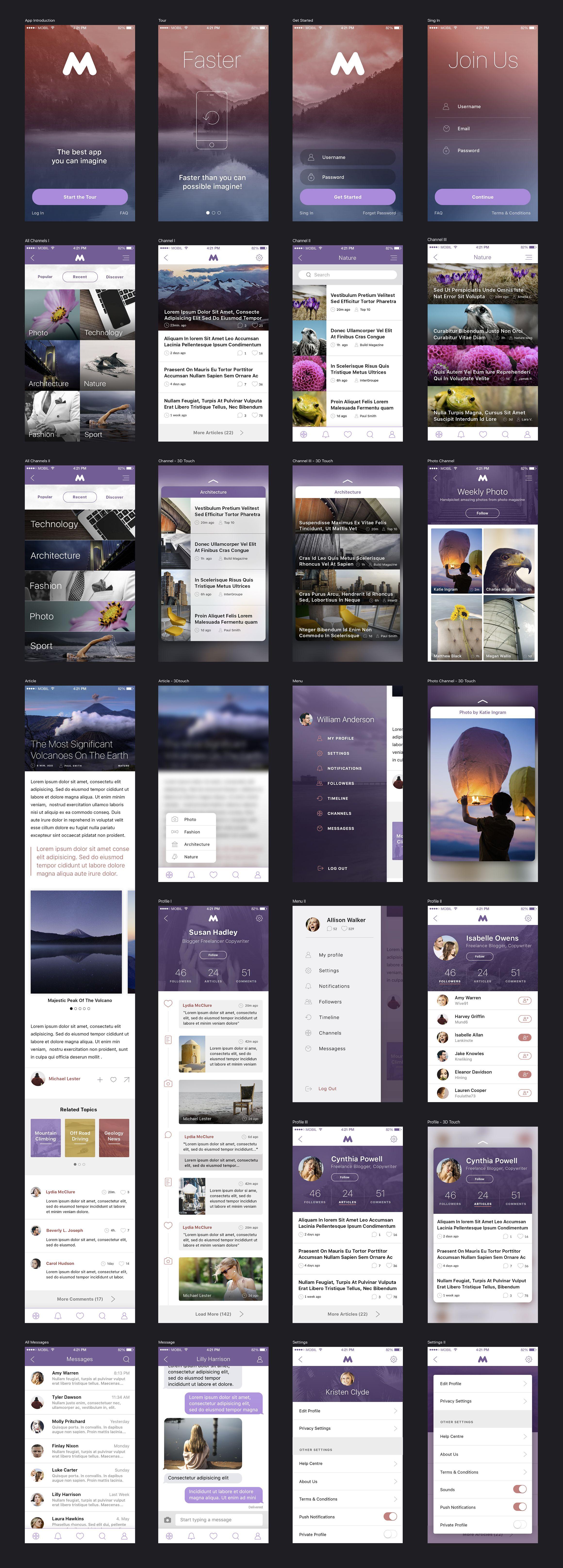 Megap - iOS Template | Ui kit, Design process and Template