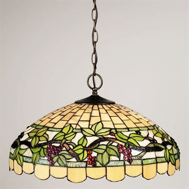 Stained Gl Hanging Lamp