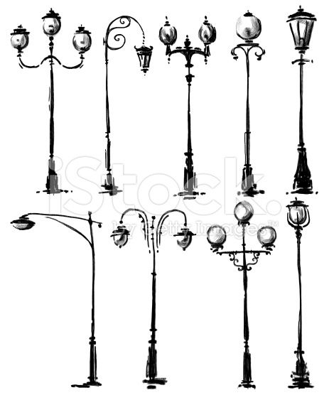Collection Of Lamp Post Drawings Lamp Post Drawings Nursery Drawings