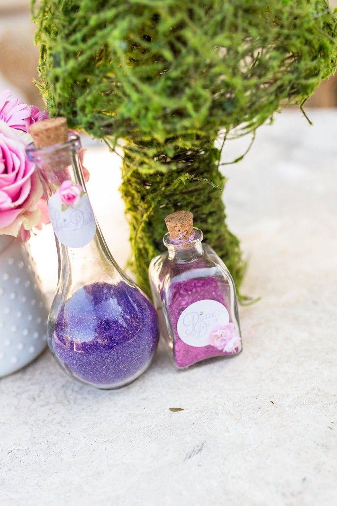 Hattie's 3rd Birthday Party - ToriSpelling.com Garden Fairy Party - Fairy Dust Bottles
