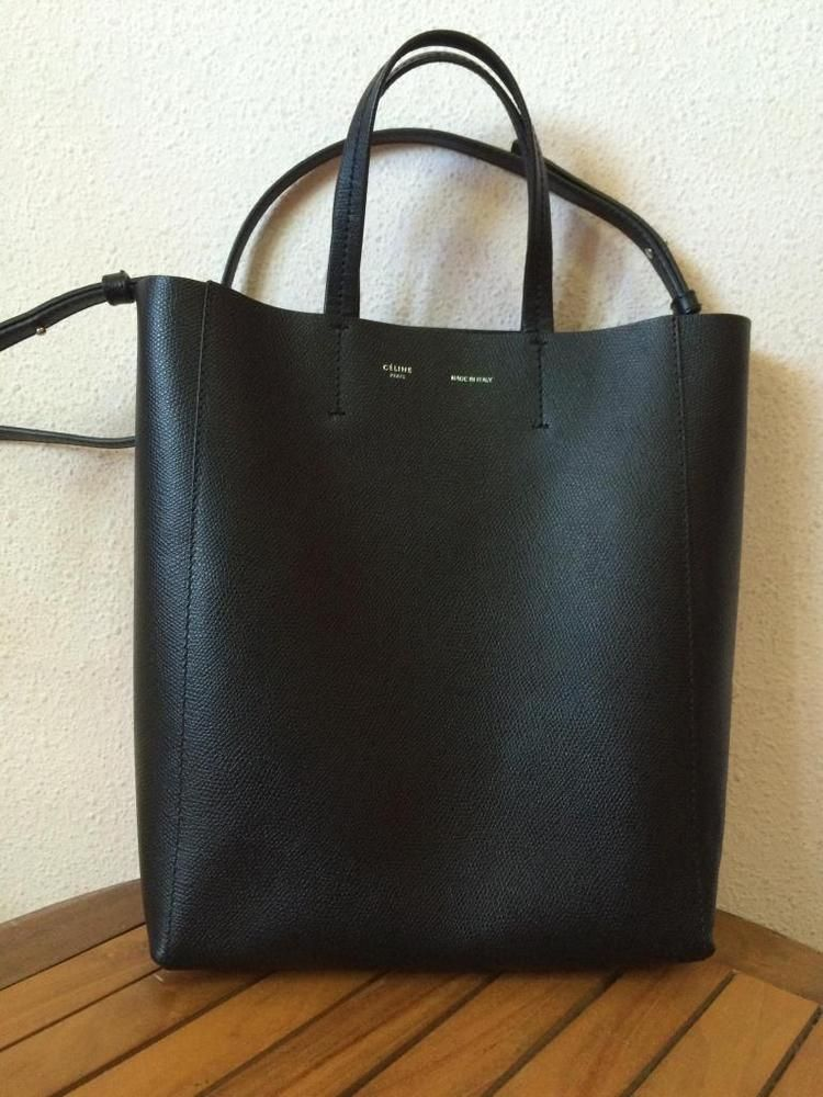 e1b1a2769127 Celine Small Vertical Cabas - Black Grained Leather