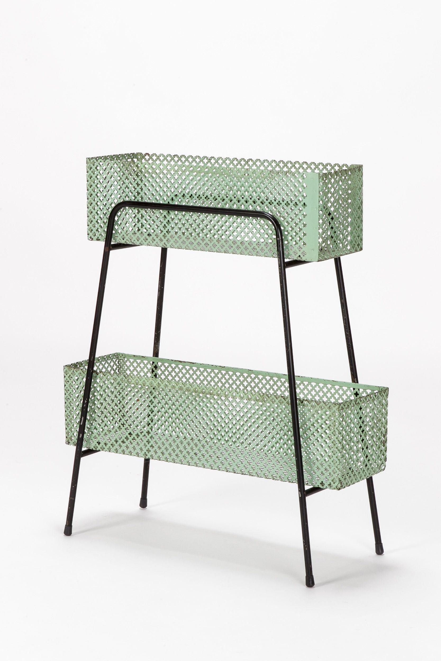 Mathieu Matégot; Enameled Metal Planter, 1950s. | cosas | Pinterest ...