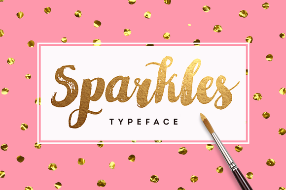 Sparkles Font + Big Bonus by Eskimo Creative on @creativemarket
