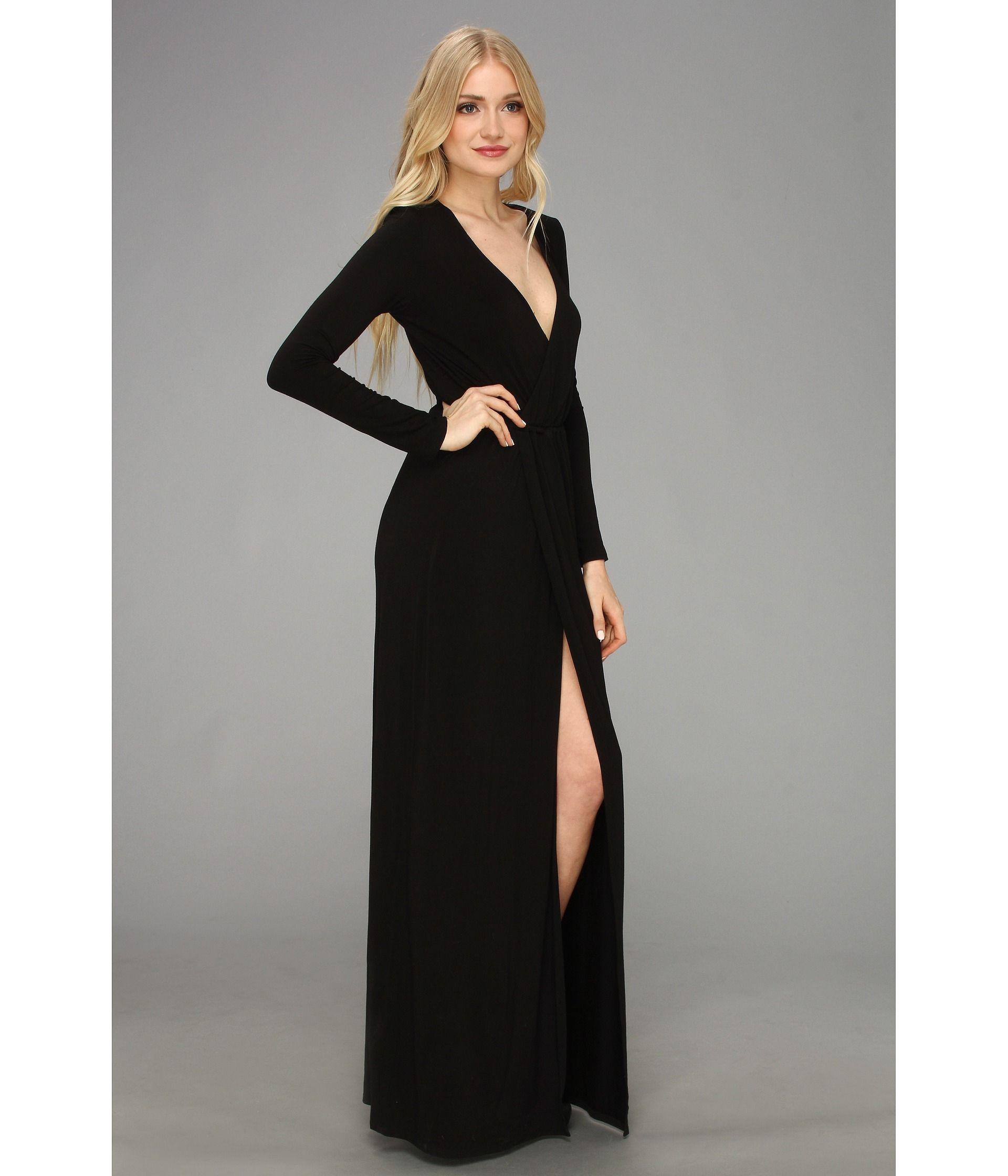 Long Sleeve Wrap Dress Formal   LongSleeve Dress   Pinterest   Dress ...
