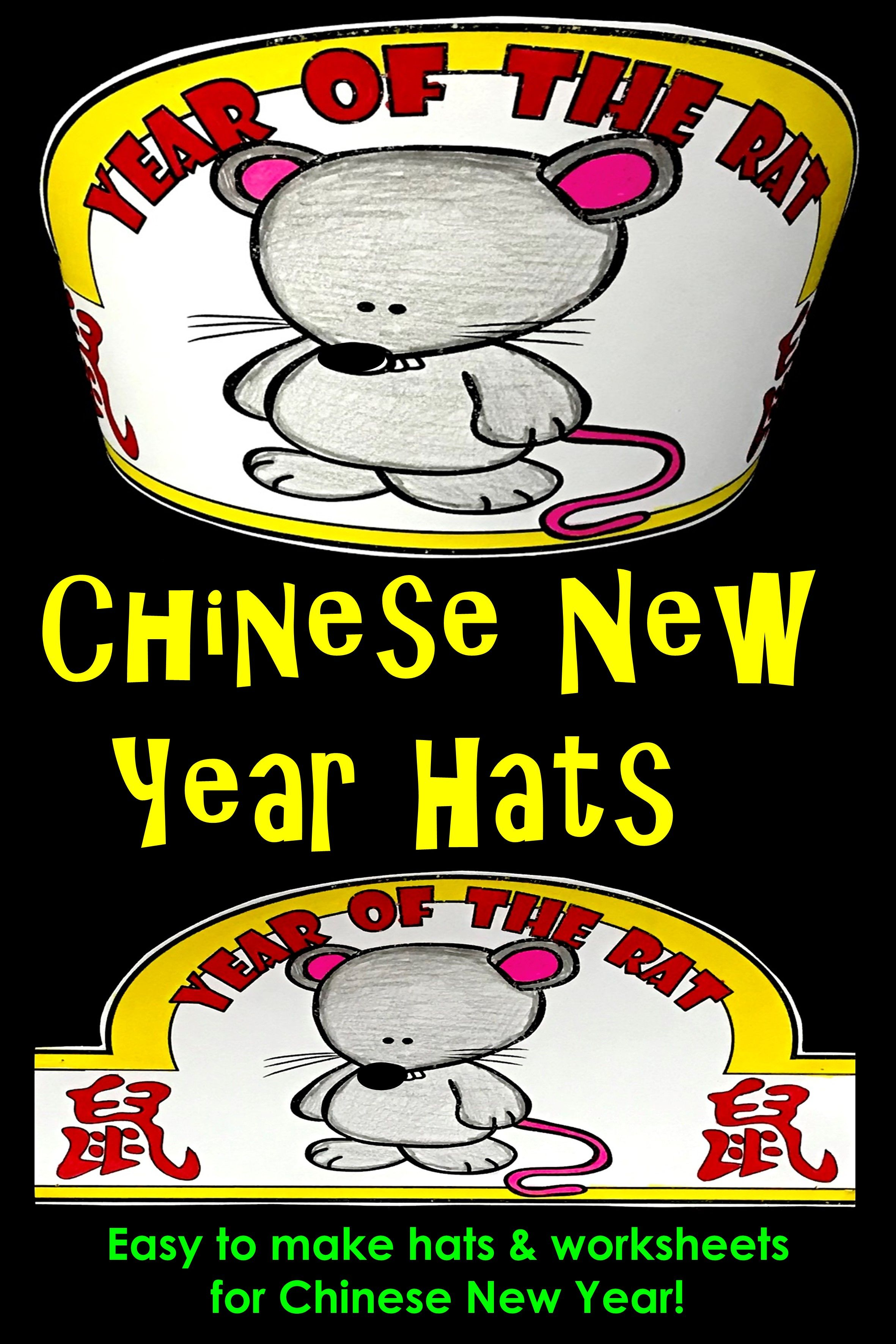 Chinese New Year Hats Year Of The Rat Hat
