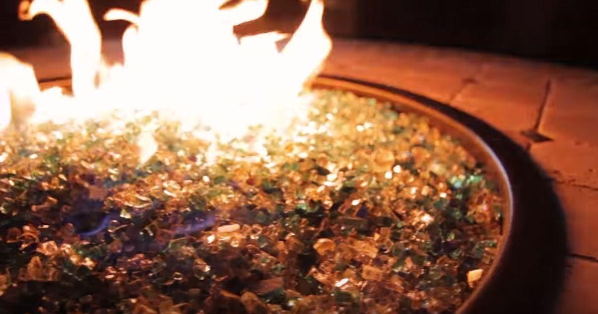 Fire Pit Glass Vs Lava Rock Fire Pit Glass Vs Lava Rock