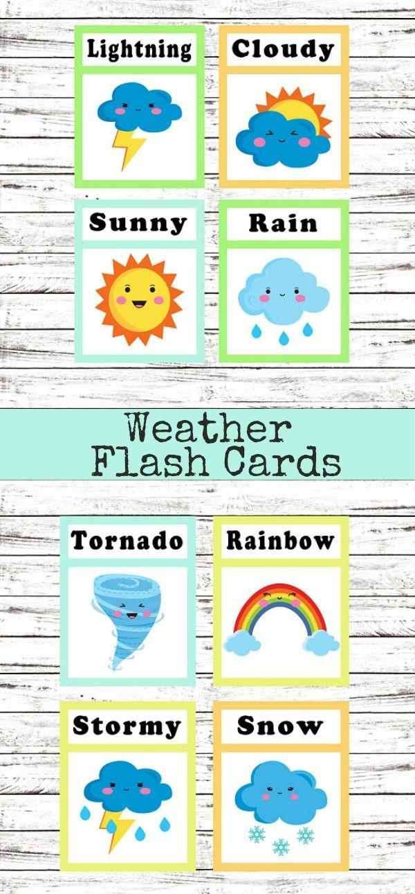 Weather Flash Cards #weather #flashcards #preschool # ...