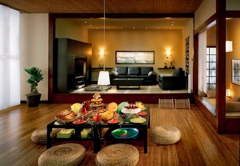 Overwhelming Open Plan Modern Japanese House Interior Decorating Showcasing Home Space Section Presenting Living Room Traditional Dining Cozy Bedroom Design