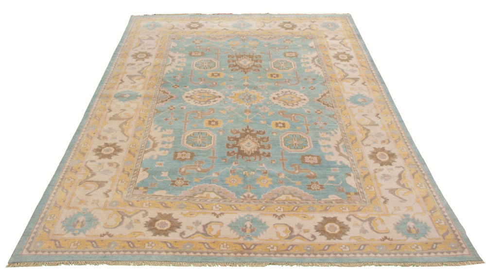 Indian Royal Ushak 9 0 Rugs Blue Rug Traditional Style Rugs Hand knotted wool rugs from india