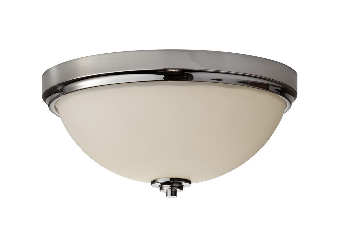 Murray Feiss FM372 Malibu 2 Light Flush Mount Ceiling Fixture Polished Nickel Indoor Lighting Ceiling Fixtures Flush Mount