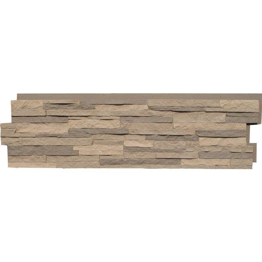 Shop NextStone Kentucky Gray Stacked Stone Faux Stone