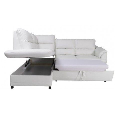 Gustavo Modern Leather Corner Sofa Bed