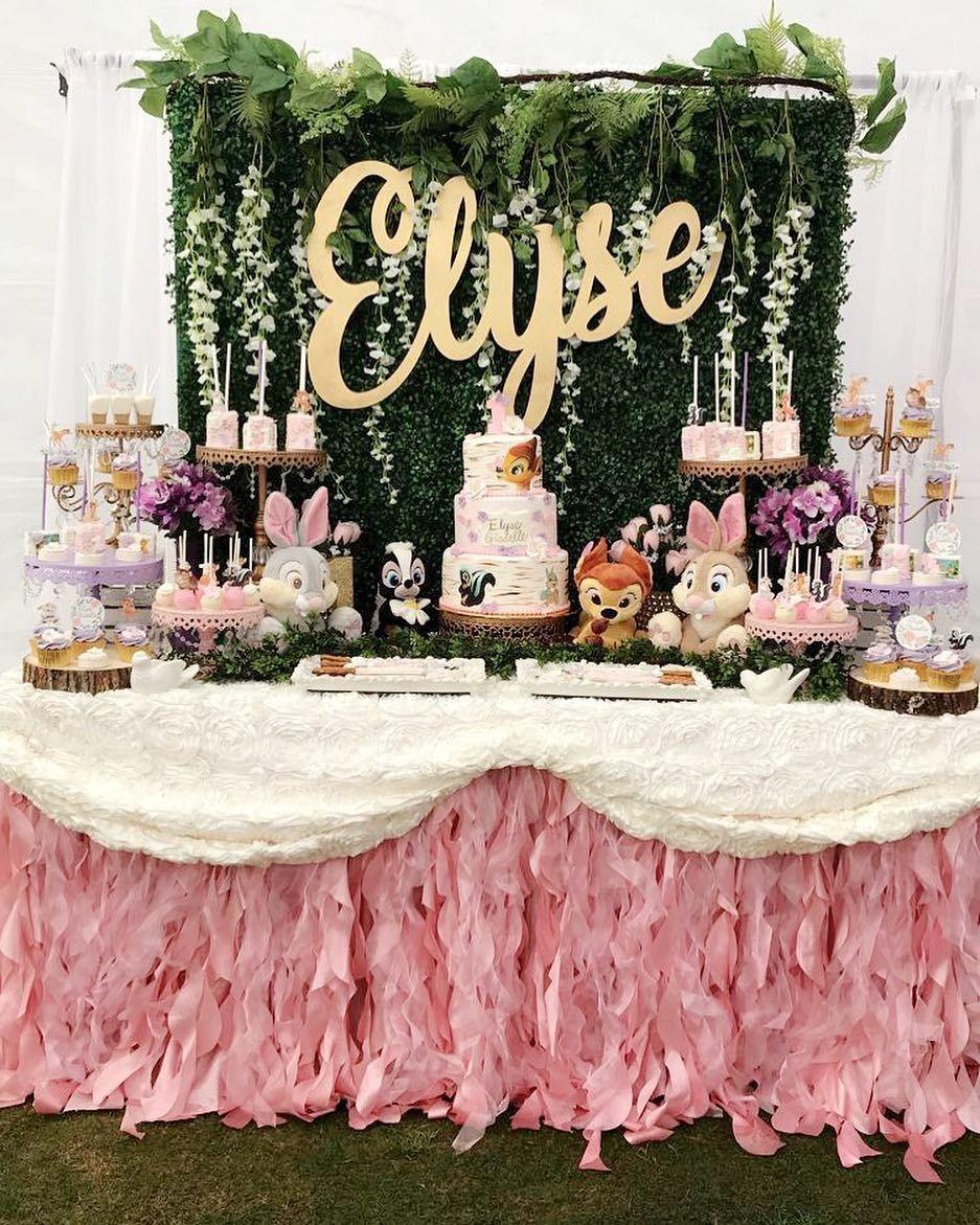 Bambi 1st Birthday Theme Elyse Celebrating Her 1st Birthday Thank You Vanessa For 1st Birthday Party For Girls 1st Birthday Themes Girl Birthday Themes