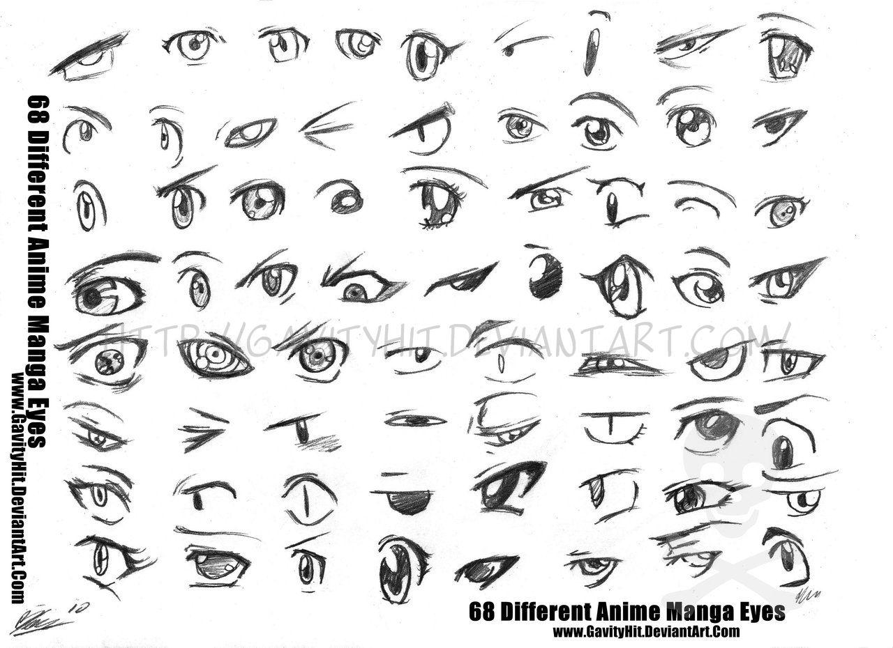68 Different Anime Manga Eyes By Gh07iantart On @deviantart