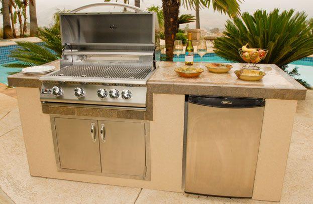 OxBox 7-foot Outdoor Kitchen Island Kit | Outdoor Decor ...