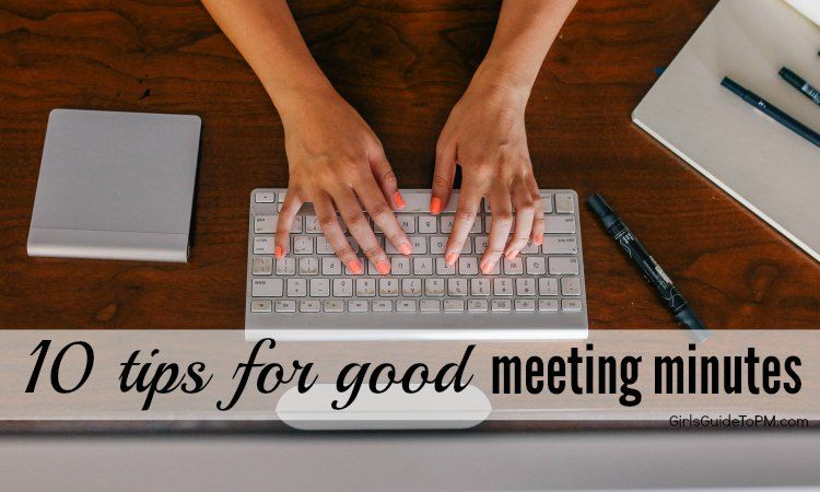10 tips for good meeting minutes Jobs Pinterest Learning