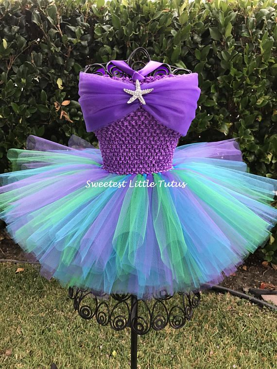 fc4f76c37b Mermaid Tutu Dress  Mermaid Tutu  Mermaid Birthday Dress  Mermaid ...