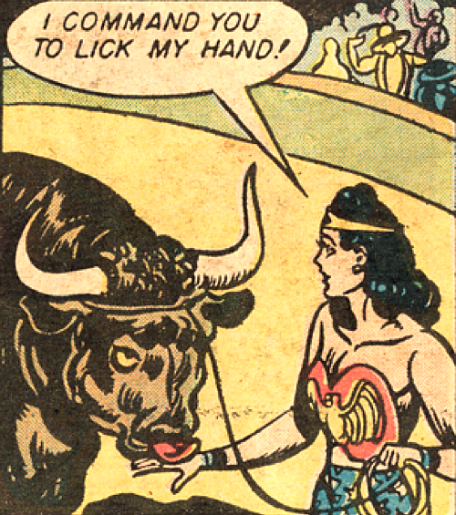 Uh, okay. —Wonder Woman 1 (1942) by William Moulton