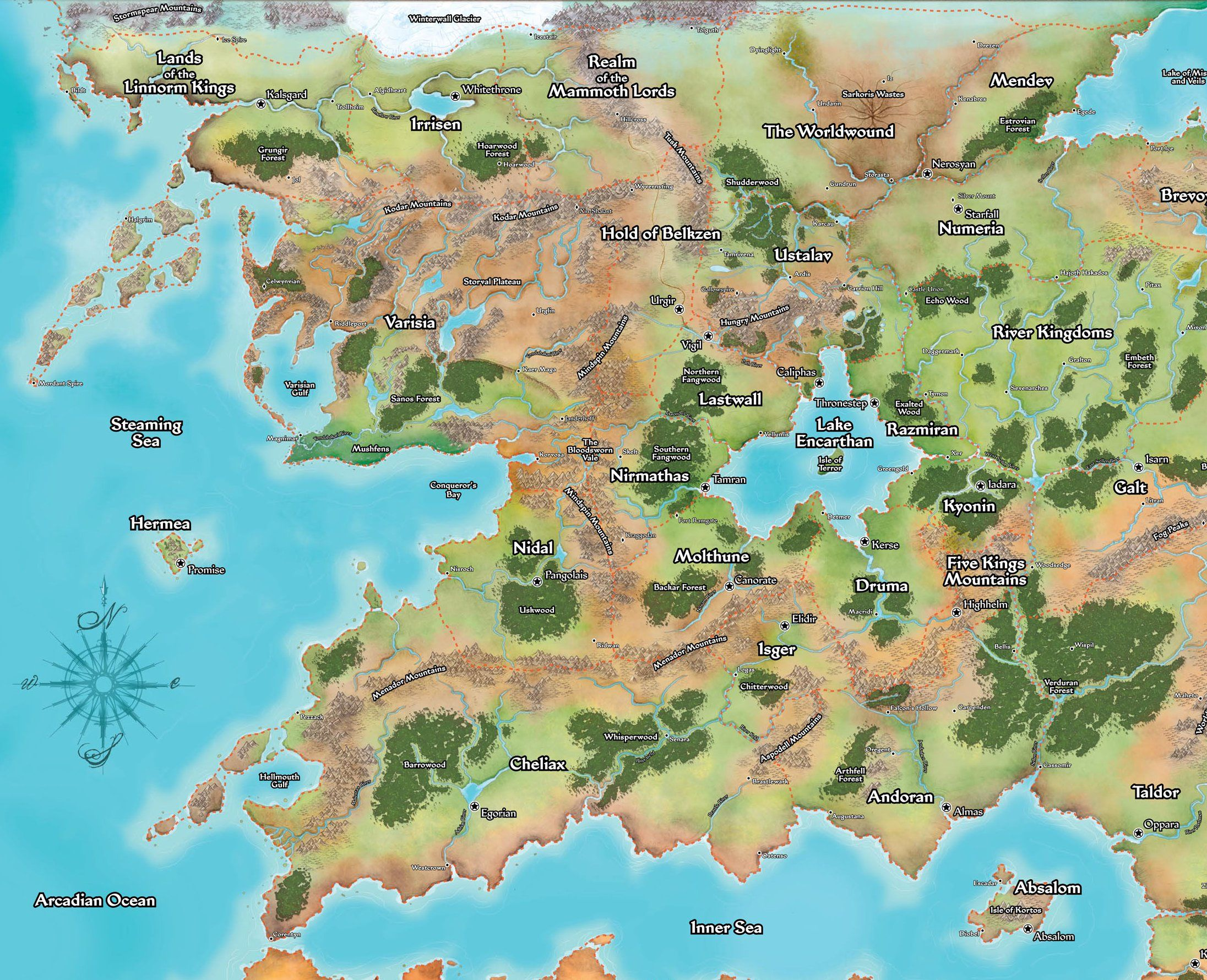 Pin by Steven Austin on Meval Terrain Maps in 2019 ... Golarion Map on nirmathas map, darklands map, crypt of the everflame map, rust island map, tian xia map, rpg map, greyhawk map, mystara map, zakhara map, pathfinder map, toril map, magnimar map, elsir vale map, absalom map, inner sea map, ustalav map, varisia map, cerilia map, dragonlance world map, river kingdoms map,