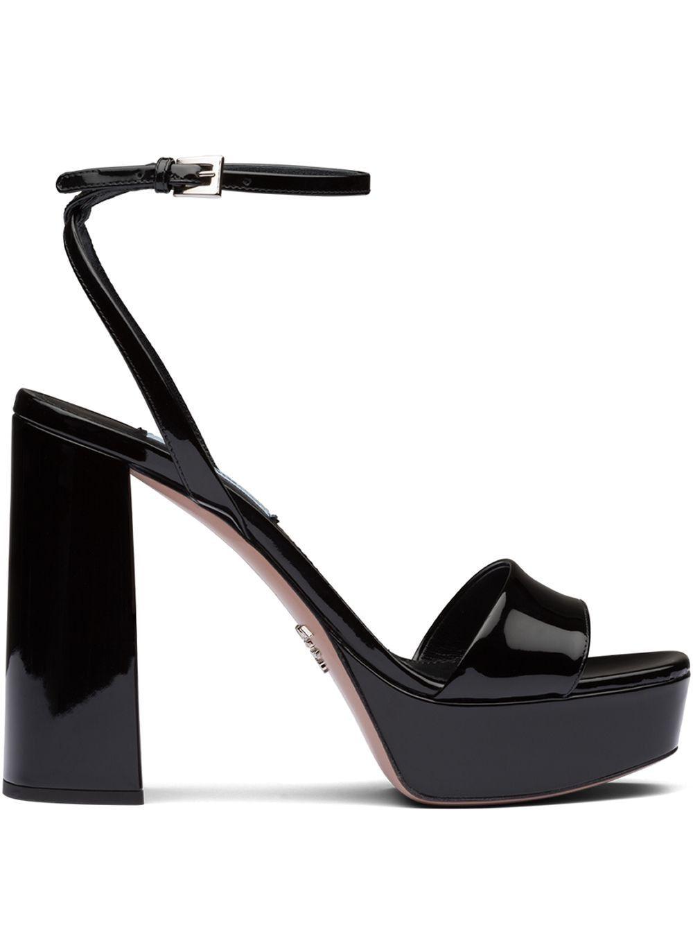 Prada Ankle Strap Platform Sandal In Black Modesens In 2020 Platform Sandals Footwear Design Women Sandals