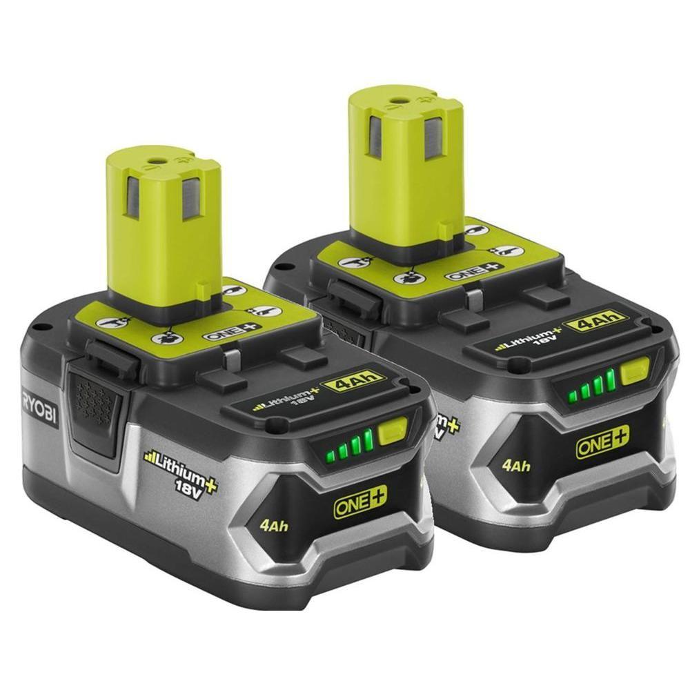 ryobi one 18 volt high capacity lithium battery 2 pack. Black Bedroom Furniture Sets. Home Design Ideas