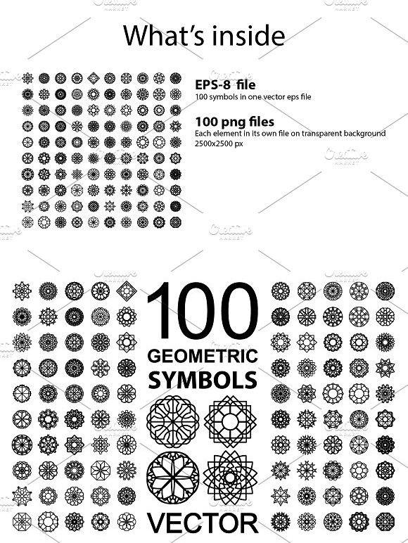 100 Geometric Symbols Mosaic Design Pinterest Geometric