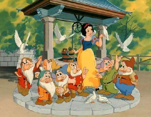 Los Personajes De Blanca Nieves Y Los Siete Enanitos Blancanieves Y Los Siete Enanitos Blancanieves De Disney 7 Enanos