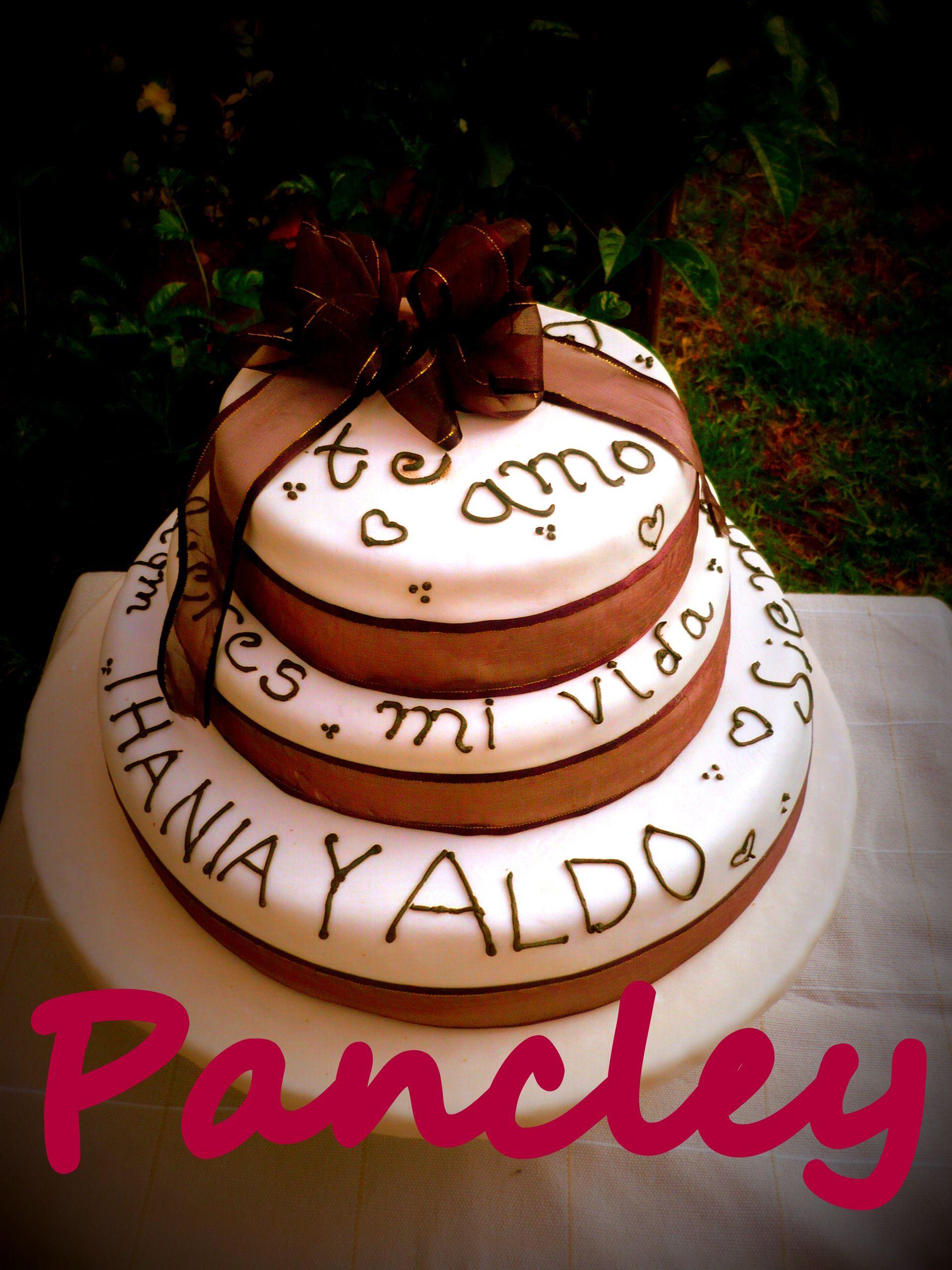 Pastel de vainilla personas pasteles de boda pinterest
