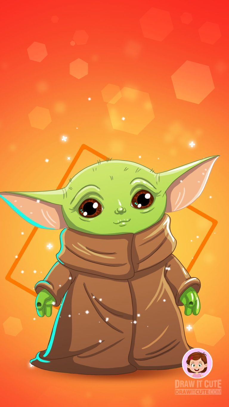 How To Draw Baby Yoda Star Wars The Mandalorian Draw It Cute How To Draw Baby Yoda Star In 2020 Star Wars Characters Drawings Baby Drawing Cute Easy Drawings